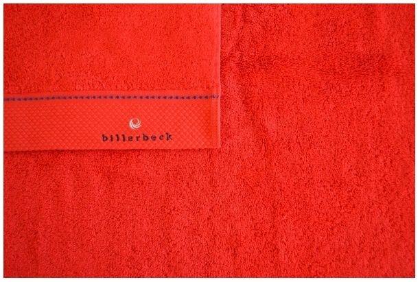 Prosop din bumbac egiptean pieptanat Billerbeck rosu 70x140 cm