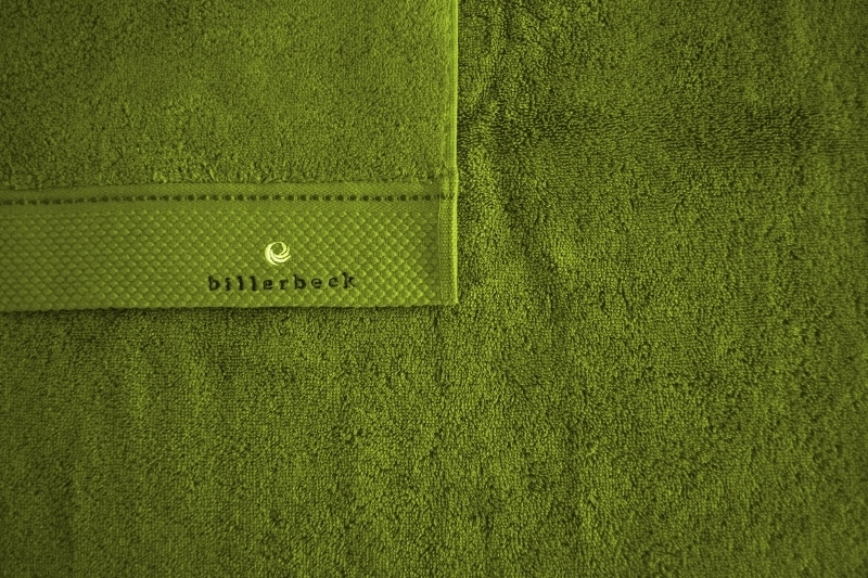 Prosop din bumbac egiptean pieptanat Billerbeck verde 70x140 cm