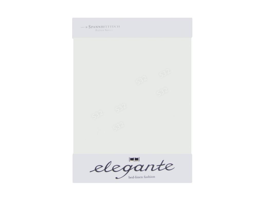 Cearceaf cu elastic Alb ELEGANTE 160 x 200