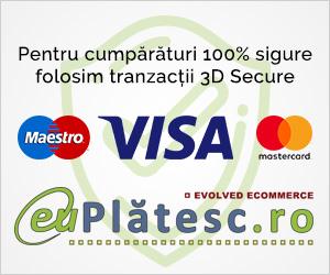Pentru cumpărături 100% sigure folosim tranzacții 3D secure